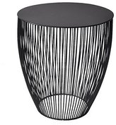 Three Hands Metal Accent Table Home Décor, Black