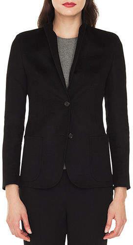 Saigon Two-Button Notched-Collar Cashmere-Wool Blazer