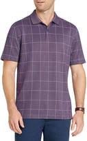 Van Heusen Short Sleeve Grid Knit Polo Shirt
