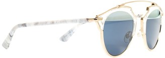 Christian Dior Women's Gold Round 48Mm Sunglasses