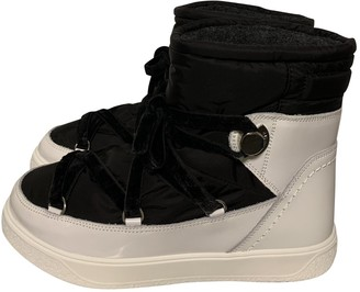 Moncler White Rubber Boots