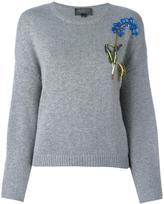 Giambattista Valli sequinned floral embroidery jumper