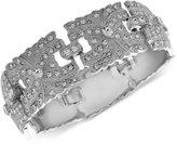 Nina Silver-Tone Swarovski Crystal Wide-Link Bracelet