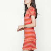 Maje Short jacquard dress with smocking