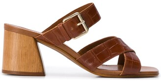 Carvela Kolumn croc-embossed sandals