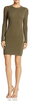 Minnie Rose Laced-Inset Sweater Dress
