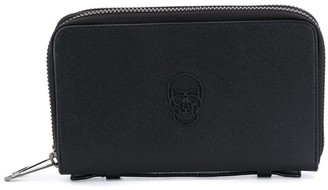 Philipp Plein Double Zip Leather Wallet