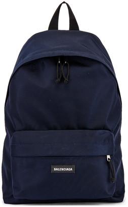 Balenciaga Explorer Backpack in Navy | FWRD