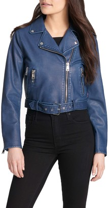 Levi's Faux Leather Belted Moto Jacket