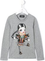 DSQUARED2 diamanté sweet girl top