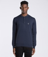 Luke 1977 Bon Vivant Long Sleeve Knit Polo Shirt