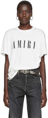Amiri White and Black Logo Core T-Shirt