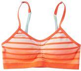 Maidenform Girls 7-16 Striped Dip-Dyed Crop Bra