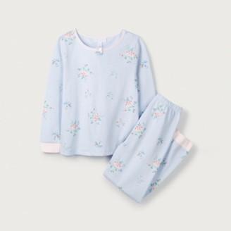 The White Company Rosie Floral Print Pyjamas (1-12yrs), Blue, 2-3yrs