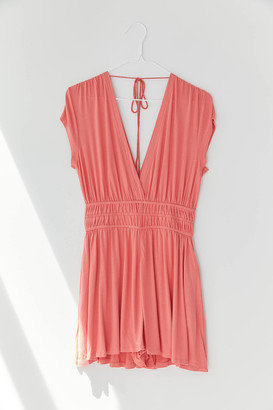 Urban Outfitters Arden Plunging Ruched Romper