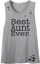So'each Women's Best Aunt Ever Letters Letters Graphic Printed Tee Cami Tank Top
