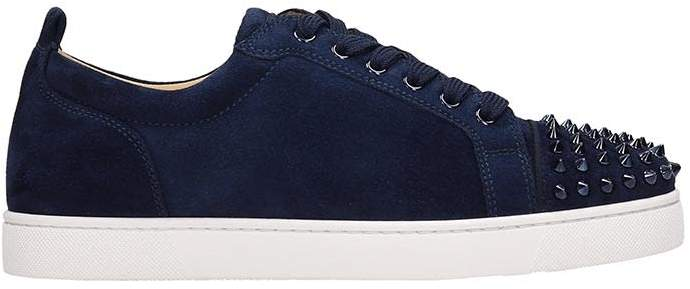 save off 35f2d 8c001 Louis Junior Spikes Blue Suede Sneakers