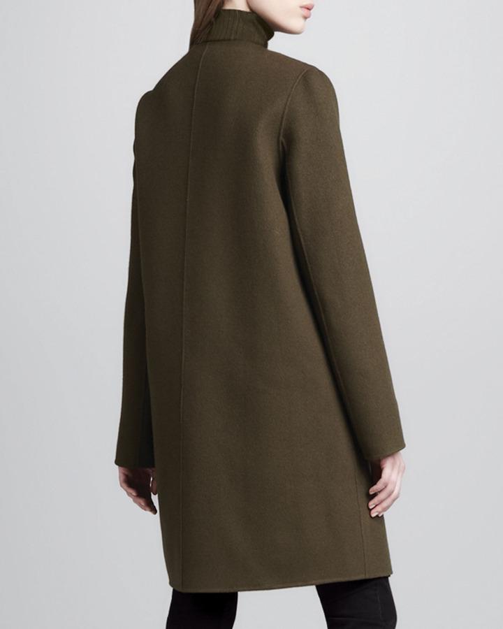 Vince Military-Style Felt Coat