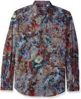 Robert Graham Men's Big Nova Long Sleeve Classic Fit Woven Shirt, Multi