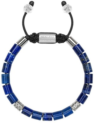 Nialaya Jewelry Adjustable Lapis Lazuli Beaded Bracelet