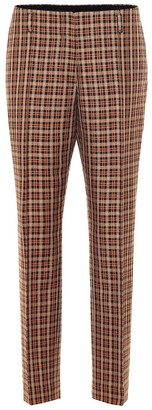 Dries Van Noten Checked wool-blend pants