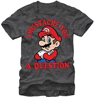 Fifth Sun Men's Tee Shirts CHAR - Mario 'I Mustache You a Question' Tee - Men