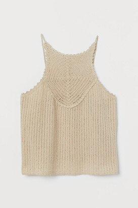 H&M Crocheted Top - Beige
