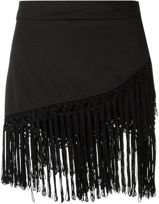 AMIR SLAMA Fringed Skirt