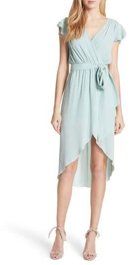 Alice + Olivia Ilissa Wrap Stretch Silk Dress