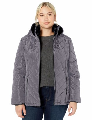 Big Chill Women's Quilted Puffer Coat with Cozy Pile Collar