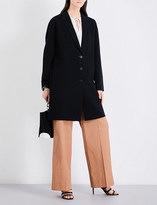 Diane von Furstenberg Oversized waffle-knit wool-blend coat