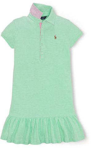 Ralph Lauren Girls 7-16 Short-Sleeve Polo Dress