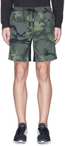 The Upside 'Ultra' stripe outseam camouflage print performance shorts