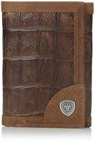Ariat Men's Gator Print Tri-Fold