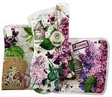 Michel Design Works Kitchen Apron, Oven Mitt and Potholder Bundle (Lilac & Violets)