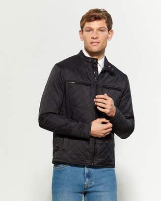 Weatherproof Vintage Black Full-Zip Quilted Moto Jacket