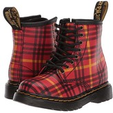 Dr. Martens Kid's Collection 1460 Tartan (Toddler) (Red Multi) Kid's Shoes