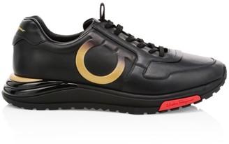 Salvatore Ferragamo Brooklyn Suede & Leather Sneakers