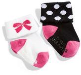Jack & Jill 2 Pack Cuffed Fashion Socks