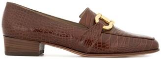 Salvatore Ferragamo Pre Owned logo horsebit loafers
