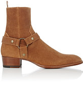 Saint Laurent Men's Harness-Strap Wyatt Boots-TAN