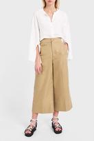 Helmut Lang Cotton Wide-Leg Trousers