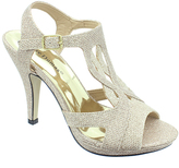 Pierre Dumas Platinum Glitter Sanibel Sandal