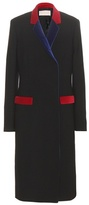 Christopher Kane Velvet-trimmed Wool-blend Coat