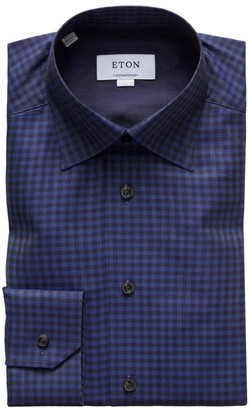 Eton Contemporary-Fit Brushed Flannel Dress Shirt