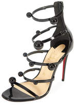 Christian Louboutin Atonana Patent Strappy Red Sole Sandal
