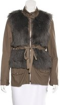 Loeffler Randall Faux Fur Long Sleeve Jacket w/ Tags