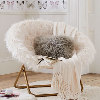 Pottery Barn Teen Himalayan Ivory Faux-Fur Hang-A-Round Chair