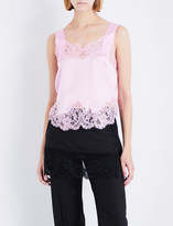 Givenchy Floral-lace and silk-satin camisole