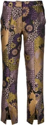 Josie Natori Jacquard Ankle Trousers